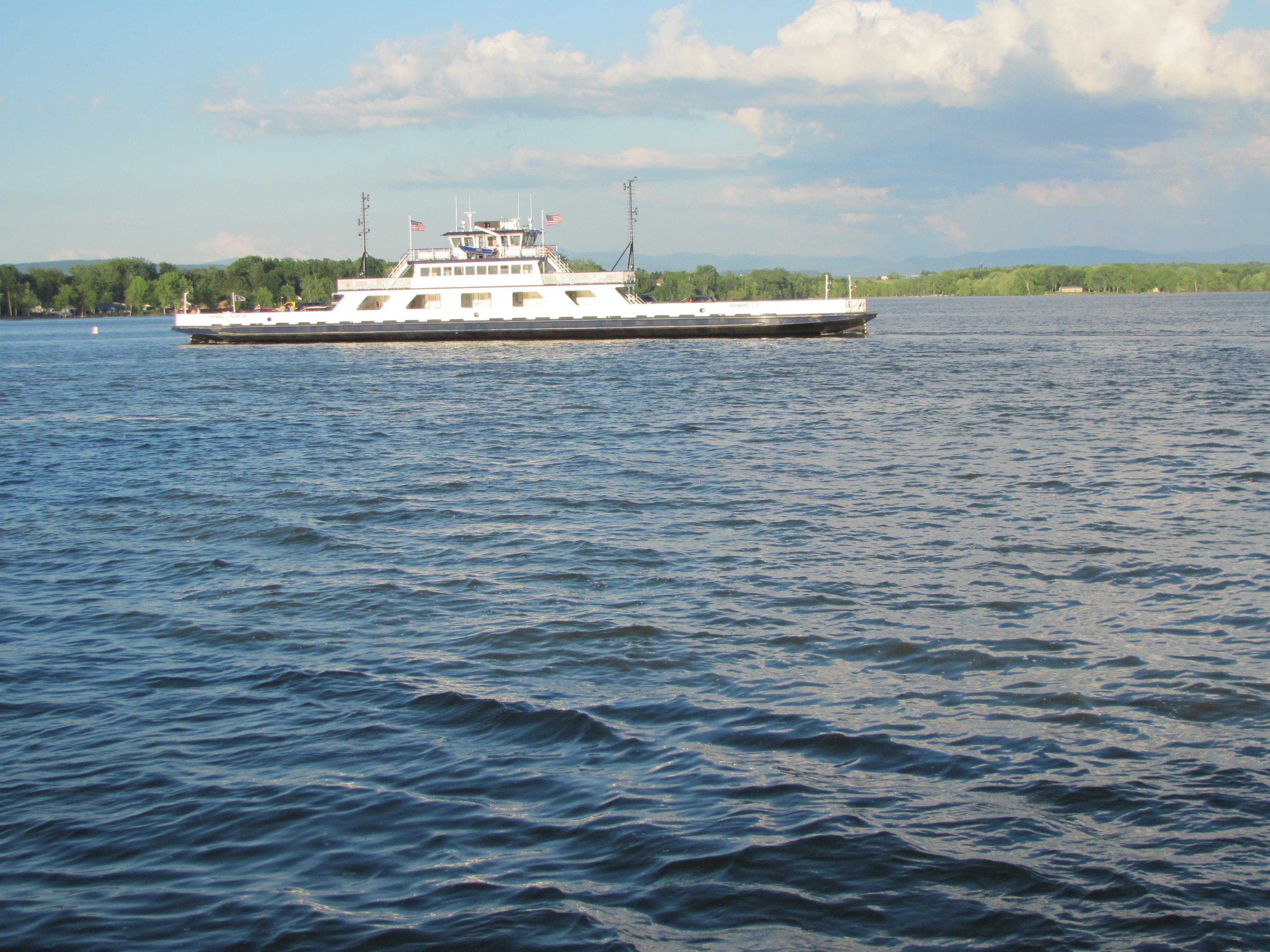 Lake Champlain Bridge Travelers Between New York And Vermont