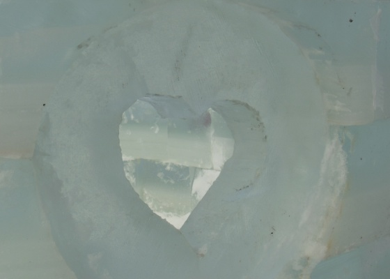 ice castle heart window