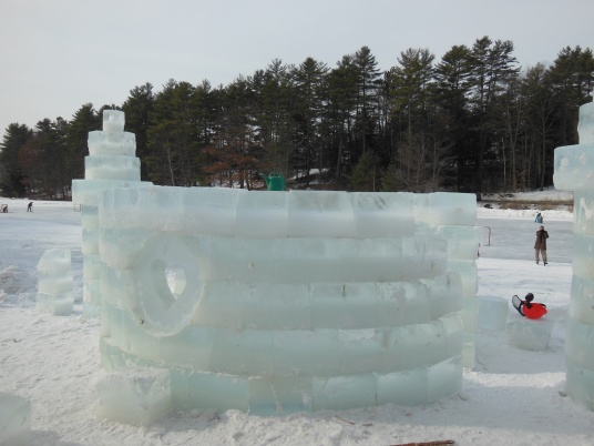 ice castle, ossom pond
