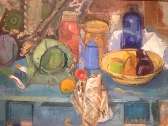 ruth miller, blue table still life, 1997